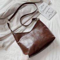 Rocambolesk Superbe Grand sac à main marron foncé Neuf