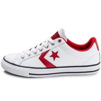 Converse - Star Player Ev Ox Junior Blanche Et Rouge