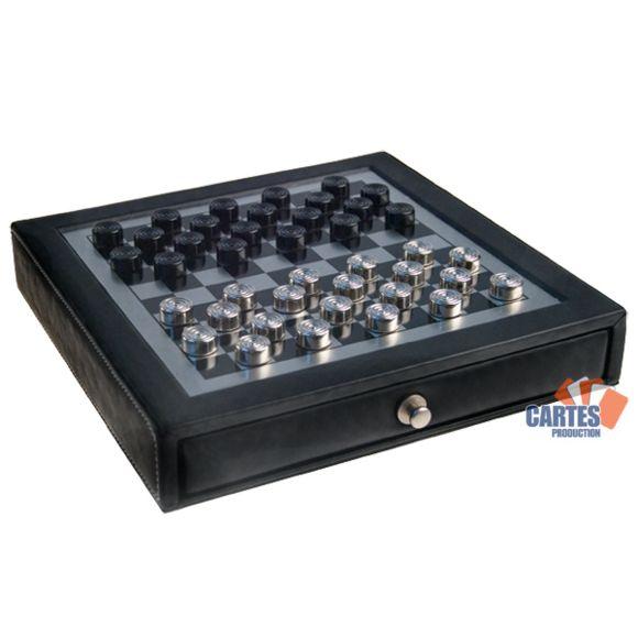 Poker Production - Jeu de Dames magnétique métal - 22.5 cm