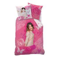 Violetta - Housse de couette 1 place + 1 taie d'oreiller 100% coton
