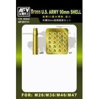 Afv Club Maquettes et Accessoires - Afv Club 1:35 - Usa 90MM Shell Case 20 Brass Pcs - Afv35111