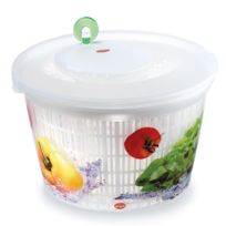 Snips - Essoreuse à salade 4 litres en polypropylène diamètre 25 cm motifs légumes