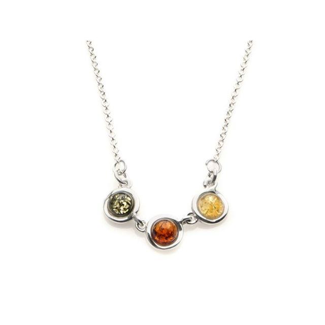 collier argent 925 ambre