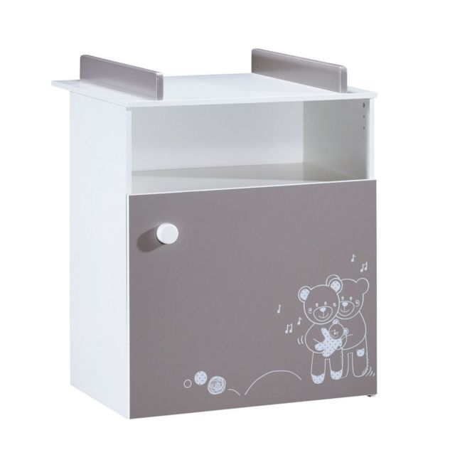 ALIBABY - Commode bébé OURS TAMY - Taupe - pas cher Achat ...