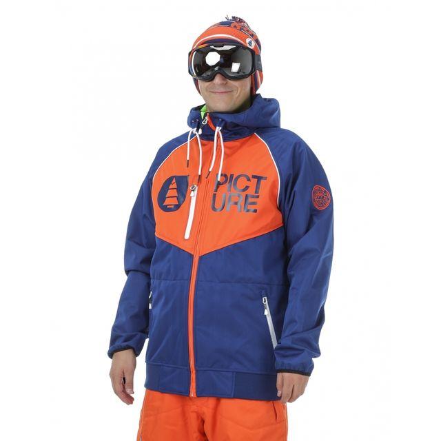 Picture Veste De Ski Organic Zak Dark Blue Orange Pas