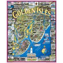 White Mountain Puzzles - Puzzle 1000 pièces - Brunswick et les îles dorées, Georgie, Usa