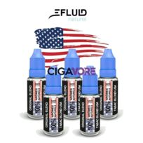 Efluid Naturel - Lot 5 e-liquides E-fluid Naturel Tabac Blond Usa 10ml 12mg soit 2.98 euros le flacon