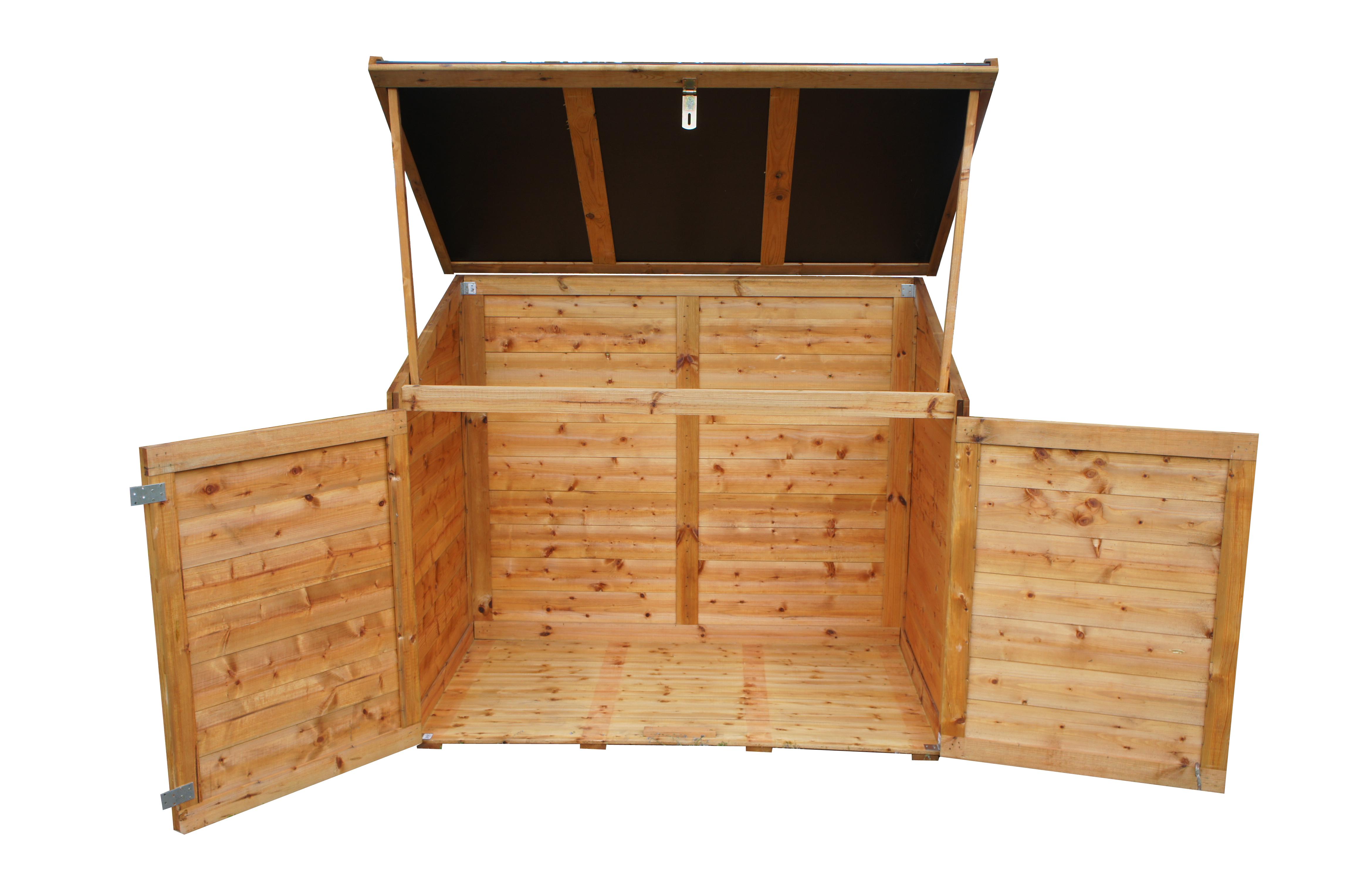 chalet  jardin  coffre bois trocadero 1200l  pas cher