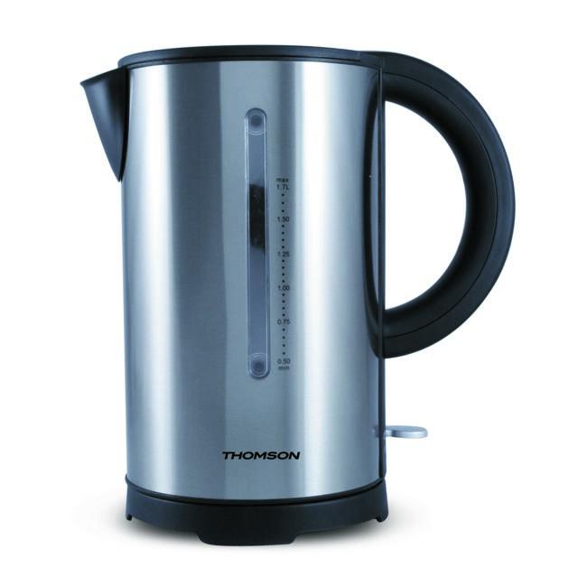 Thomson Thke07600 - Bouilloire électrique sans fil avec socle multi-directionnel - Capacité 1,7L - Puissance 2200 W - silver