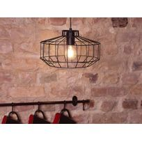 Beliani - Lampe - Lampe de plafond - Métal - Noire - Wabash