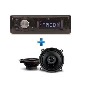 CALIBER - Autoradio RMD021 + Haut-parleur coaxiaux 2 voies 13cm