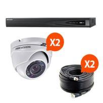 HIKVISION - HIK-2DOM-THD - Kit vidéo surveillance Turbo HD 2 caméras dôme N°1