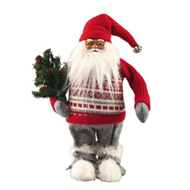 Père Noël avec sapin H43cm