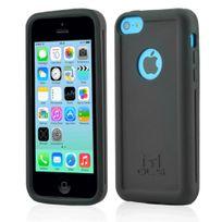 Mols - Coque antichoc noire avec protecteur d'écran pour iPhone 5c