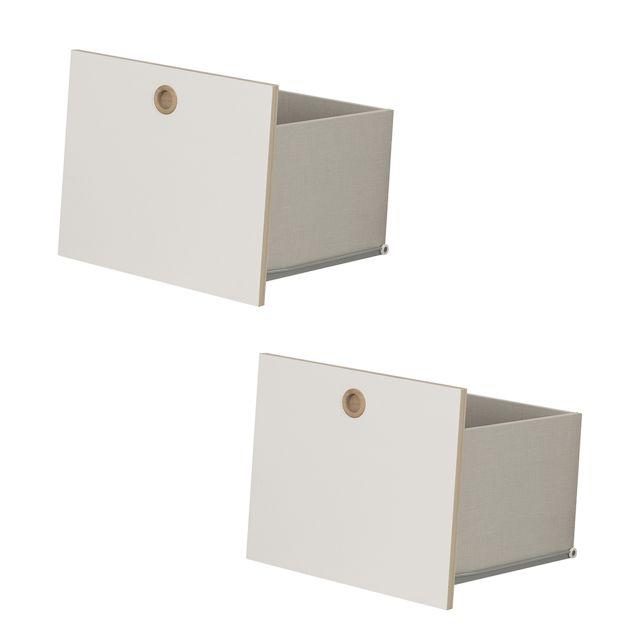 Galipette Option 2 tiroirs pour chambre Lora - Blanc