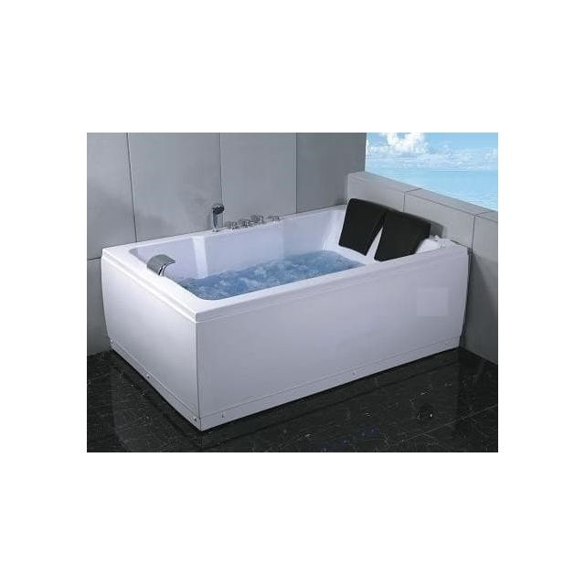 Items France Salusa2 Baignoire 2 Places Hydromassante 185x120x66