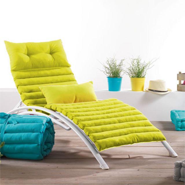 fred olivier coussin bain de soleil pacifique uni anis. Black Bedroom Furniture Sets. Home Design Ideas