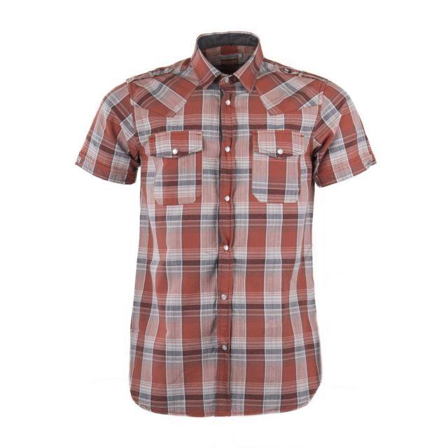 Best Mountain - Chemise manches courtes à carreaux homme - pas cher ... 50ee34086db6