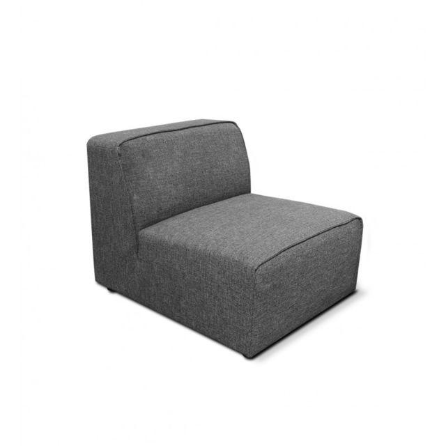 Meubletmoi Chauffeuse grise pour canapé - Milan