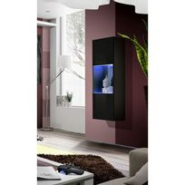 vitrine murale bois achat vitrine murale bois pas cher. Black Bedroom Furniture Sets. Home Design Ideas