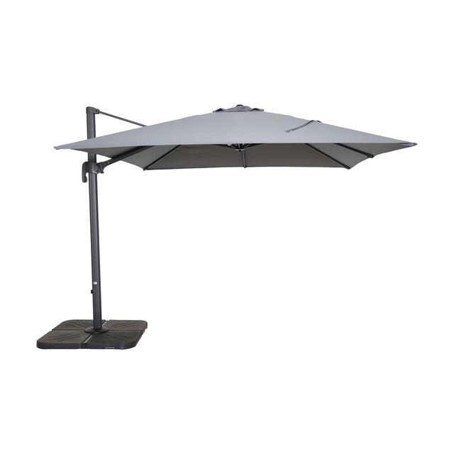 parasol d port rhodos framboise carr x cm vendu par leroy merlin 10475026. Black Bedroom Furniture Sets. Home Design Ideas