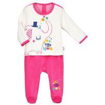 a955b61d44be0 Petit Beguin - Pyjama bébé velours effet 2 pièces Me and You - Taille - 12