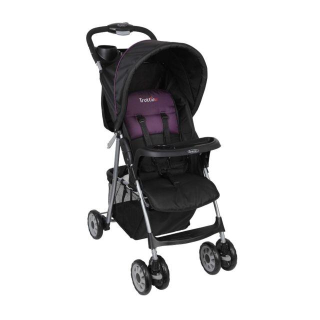 trottine poussette b b compact neo noir violet. Black Bedroom Furniture Sets. Home Design Ideas