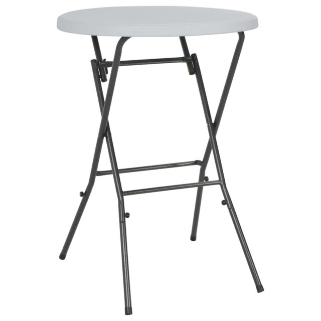 VIDAXL Table de bar pliante HDPE 80 x 110 cm Blanc