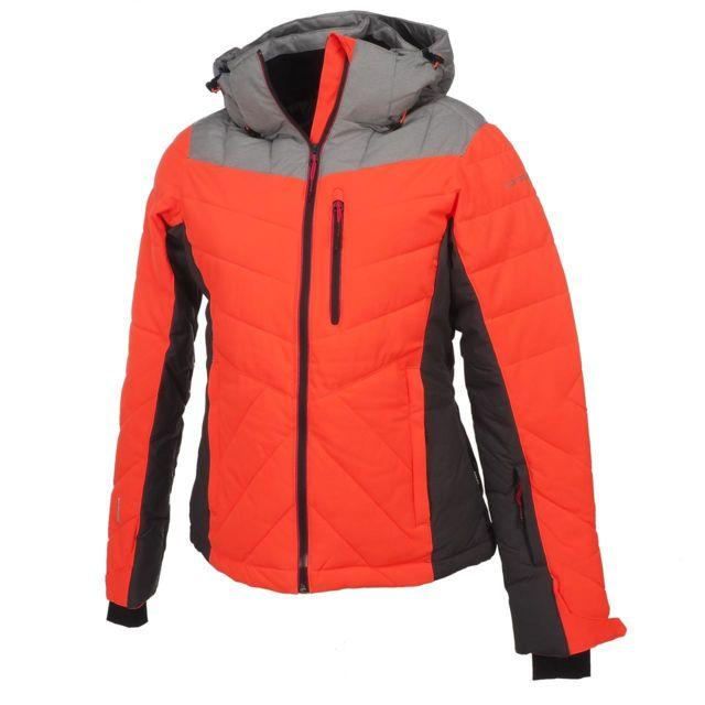 Blouson Orange Org Ice Jacket Fluo De Peak L Kendra Ski Icepeak 45Aqfv5n