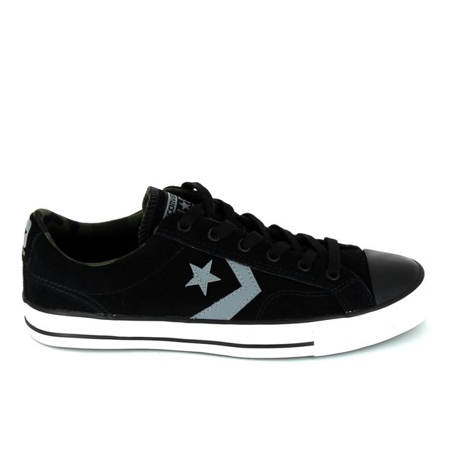 1bf49ee8bf2 Converse - Star Player B Noir Gris - pas cher Achat   Vente Baskets homme -  RueDuCommerce