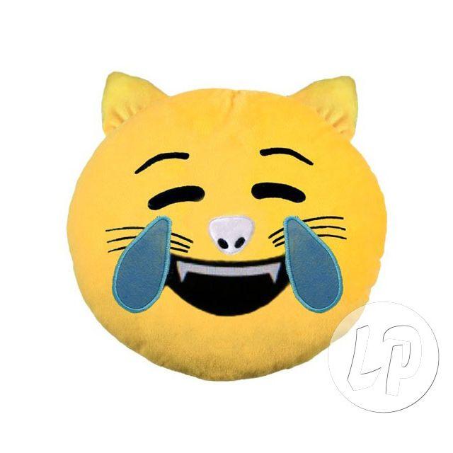 """Coolminiprix Coussin émoticone chat mort de rire 33cm - Qualité S'il n'y a pas la mention """"lot"""" dans le titre, ce produit est vendu à l'unité, même si sur la photo il y a plusieurs pièces, vous n'en recevrez qu'une seule - 1x coussin émoticone c"""