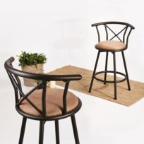 tabouret bar 63 cm achat tabouret bar 63 cm pas cher rue du commerce. Black Bedroom Furniture Sets. Home Design Ideas