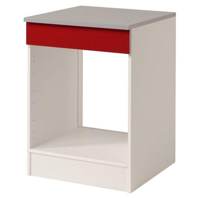 Paris prix meuble bas four 60cm shiny rouge sebpeche31 for Meuble bas prix