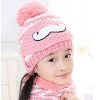 eaf83ff38e0 Wewoo - Bonnet rose Hiver Barbe Motif Masque Visage Protection + Écharpe +  Bonnets