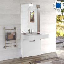 creazur meuble simple vasque pure 70 blanc - Meuble Vasque 70 Cm