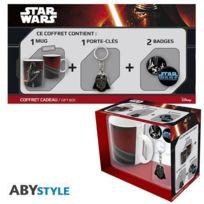 Aucune - Star Wars Pack Cadeau Mug Vador + Porte-clés + Badges