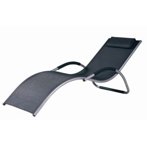 Hesp ride transat chaise longue avec accoudoirs bavaro for Transat piscine carrefour