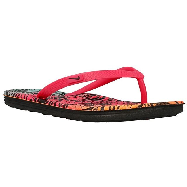 Nike Solarsoft Thong 2 Prnt Rose pas cher Achat Vente