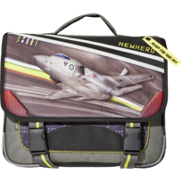 Cartable noir avion - 2 Compartiments - L 38cm