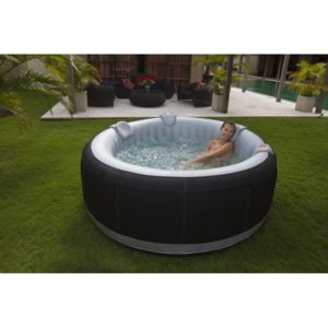 Ospazia spa gonflable rond luxe 4 places pas cher for Jacuzzi hinchable carrefour