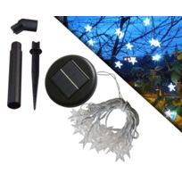 FEERIE SOLAIRE - Guirlande Etoiles 20 leds blanches Solaire 3m80