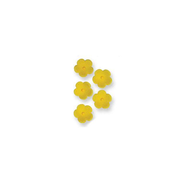 Pme Fleurs en sucre jaunes x30