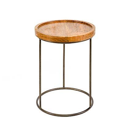 Table d'appoint ronde en bois