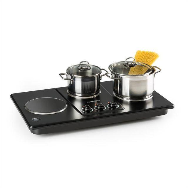 KLARSTEIN Potzblitz Triple plaque de cuisson réglable en continu 3300W - noir