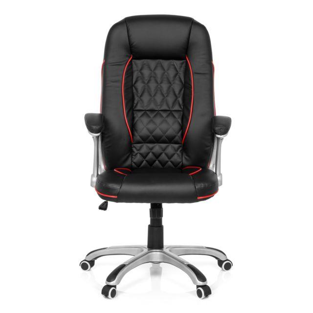 Hjh Office Fauteuil de direction Relax Ab100 simili cuir noir/rouge