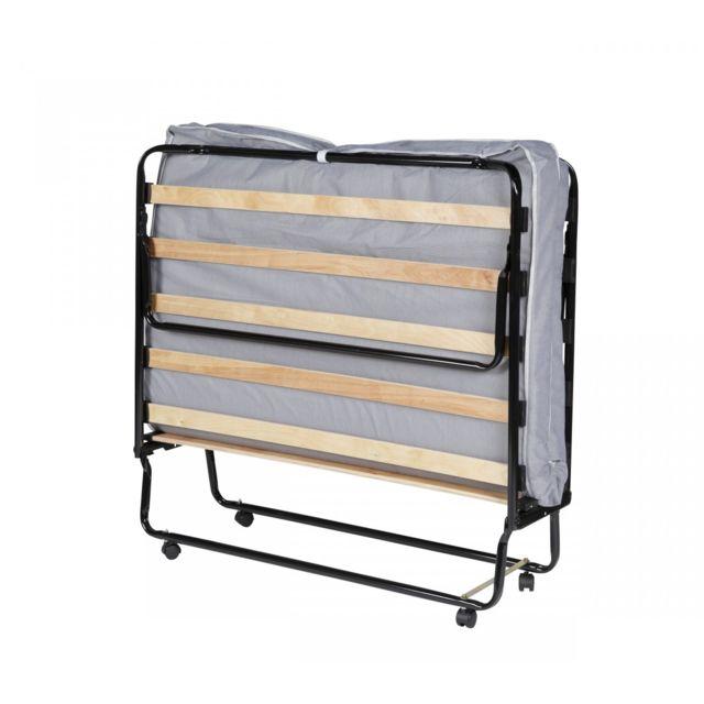 terre de nuit ensemble lit pliant matelas 8 cm 80x190. Black Bedroom Furniture Sets. Home Design Ideas