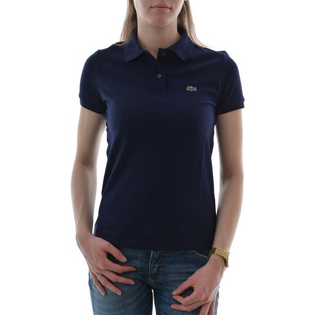 a0d21c3d3a Lacoste - Polos pf6958 bleu 32 - pas cher Achat / Vente Polo femme -  RueDuCommerce