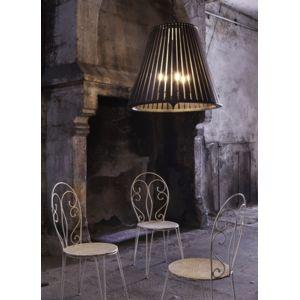 forestier grande suspension noire originale en bois 1 lumi re pas cher achat vente. Black Bedroom Furniture Sets. Home Design Ideas