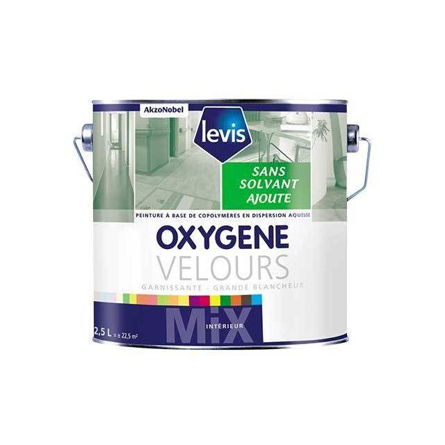 Oxygene Velours Blanc 15l Peinture 0 De Solvant Ajouté D Aspect Velours Pour Murs Intérieurs Levis