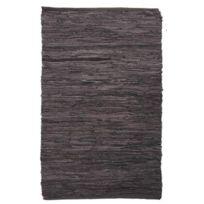 AUBRY GASPARD - Tapis en cuir et coton